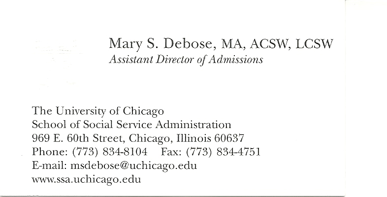 University of chicago school of social service administration business card colourmoves Choice Image